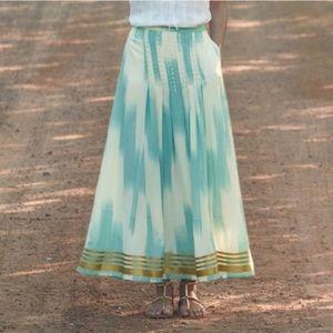 Anthropologie florets far seas maxi skirt, size 2.